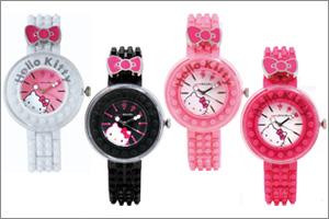 ナノブロック×ハローキティ デコれる腕時計